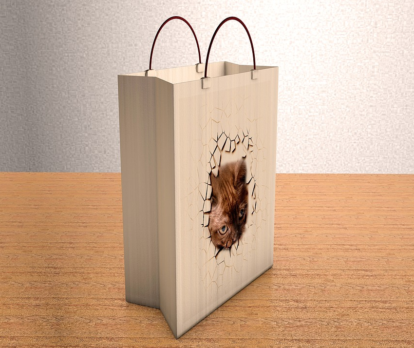 Tragetaschen Papier • Papiertragetaschen bedruckt | simplebag